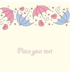 umbrella love card vector image