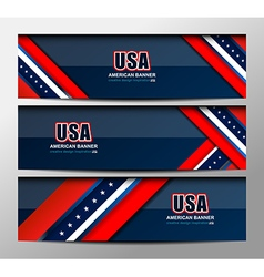 USA Flag Color Banner Backgrounds vector image