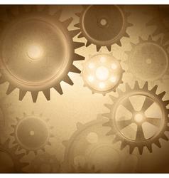 Vintage gear system vector image