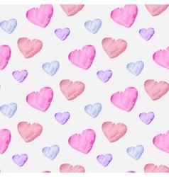 Watercolor hearts vector image