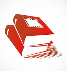 Books abstract logo vector