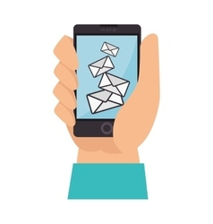 mail hand finger check vector image