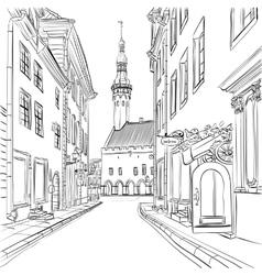 Medieval Old Town Tallinn Estonia vector image vector image
