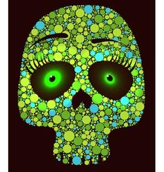 Green skull vector