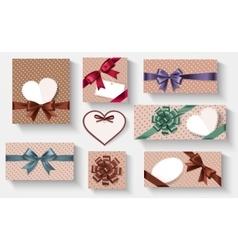Retro gifts set vector image vector image