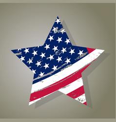Usa star grunge american flag vector