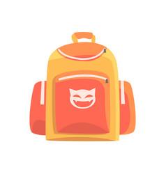 Colorful childrens backpack rucksack for school vector