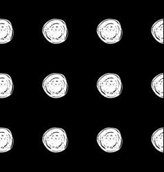 hand drawn polka dot seamless pattern vector image vector image
