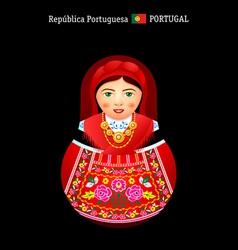 Matryoshka Portugal vector image vector image