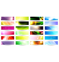 web banner set vector image