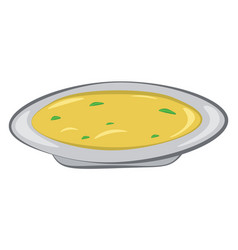 A bowl with delicious and yummy omelet or color vector