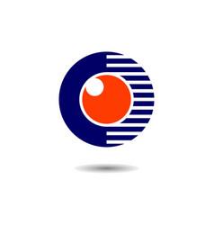 abstract eye vision logo concept icon design vector image