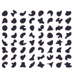 Abstract shapes random blob shapes liquid ink vector