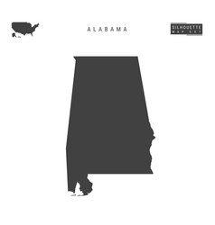 Alabama us state map isolated on white background vector