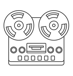 analog stereo open reel tape deck recorder icon vector image