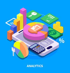 Analytics isometric vector