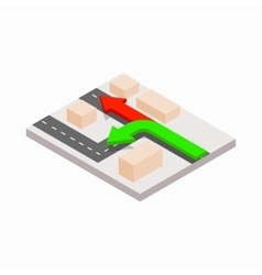 Arrows showing directions icon isometric 3d style vector image