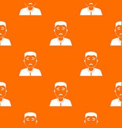 asian man pattern seamless vector image