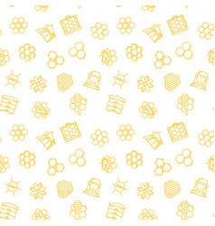 beekeeping and honey seamless pattern or vector image