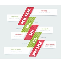 Big Sale Christmas Ball Sticker tags with Sale 20 vector image