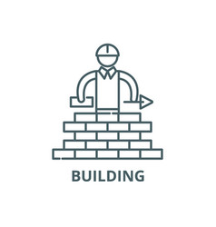 building line icon building outline sign vector image