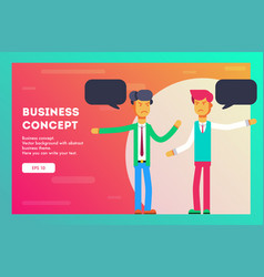 business concept different opinions vector image