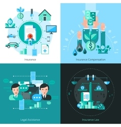 Business Insurance Concept Icons Set vector image