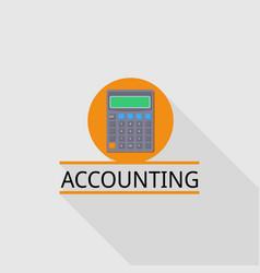 Calculator accounting logo flat style vector