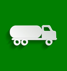 Car transports sign paper whitish icon vector