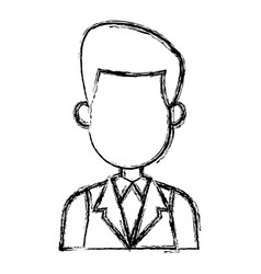 Cartoon man portrait business character male vector