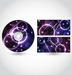 Cd disk packing design template vector