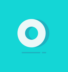 circle logo flat cartoon white round vector image