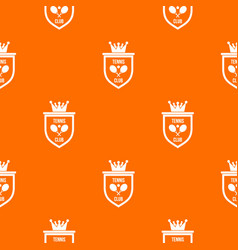 coat of arms of tennis club pattern seamless vector image