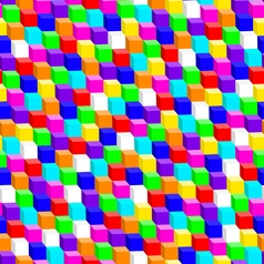 Colorful 3D cube in a seamless pattern vector image