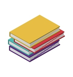 Colorful and irregular stacked books vector