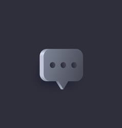 Comment icon 3d style vector