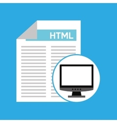 computer web development language vector image