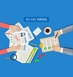 concept searching professional staff vector image