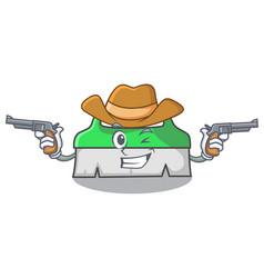 Cowboy scrub brush character cartoon vector