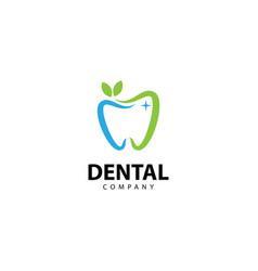 Dental herbal clinic logo tooth abstract design vector