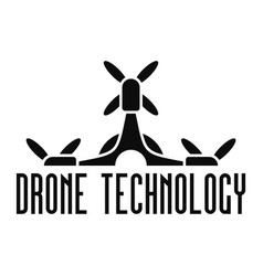 Drone tech logo simple style vector