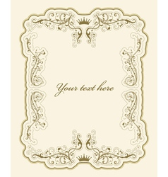 Elegant vintage label vector