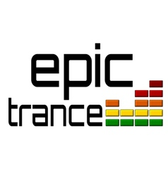 Epic trance dj equalizer music volume on alpha vector image