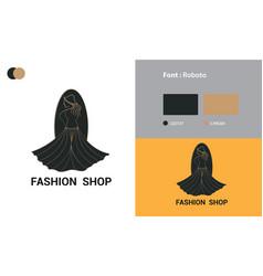 Fashion shop logo template design vector