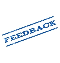 Feedback Watermark Stamp vector image