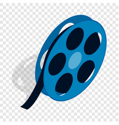 Film reel isometric icon vector