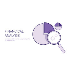 financial analysis business concept data vector image