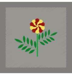 Flat shading style plant tagetes vector