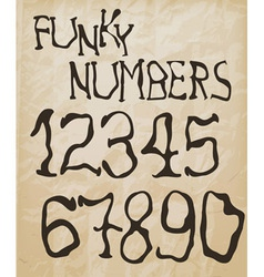 funky retro numbers vector image