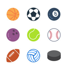 games and sport colored trendy icon pack 1 vector image
